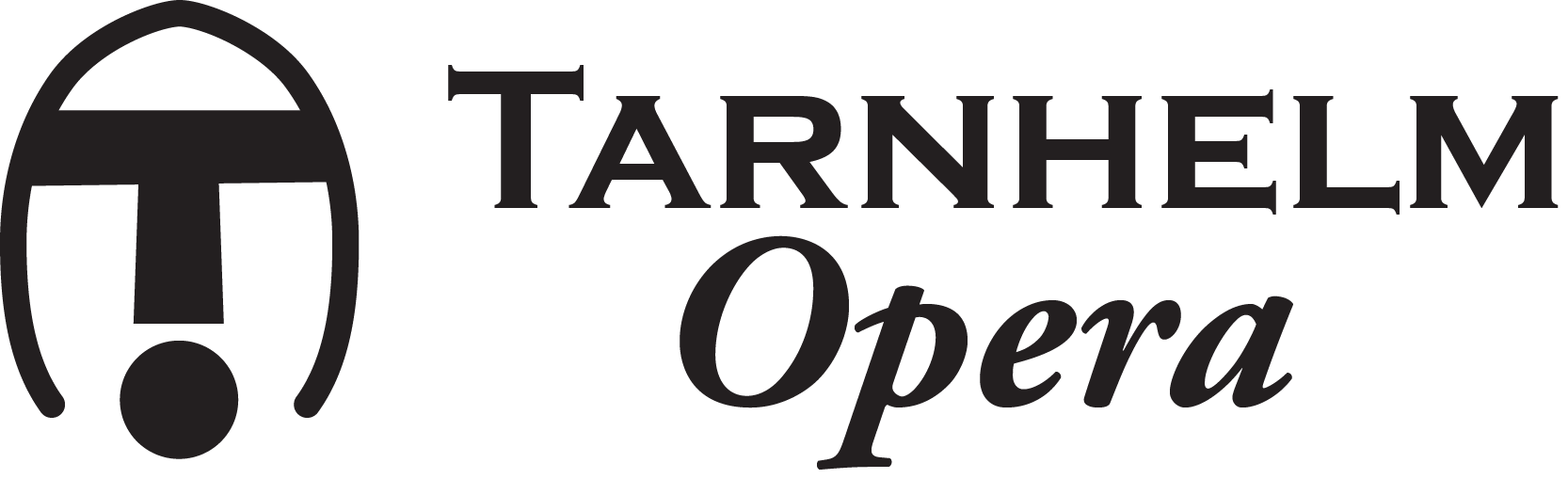 Tarnhelm Opera banner black on transparent background 1666 × 509px tight